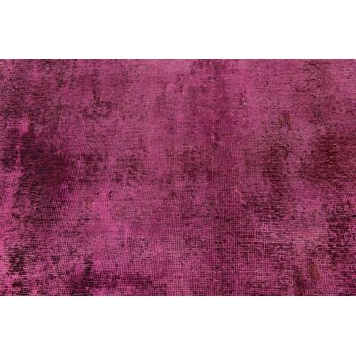 One-of-a-Kind Muhammad Vintage Persian Hand Woven Dyed 100% Wool Red Oriental Area Rug