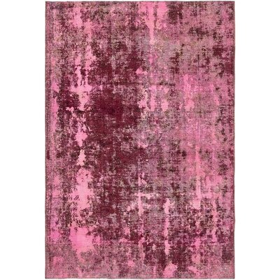 One-of-a-Kind Sela Vintage Persian Hand Woven 100% Wool Rectangle Pink Oriental Area Rug