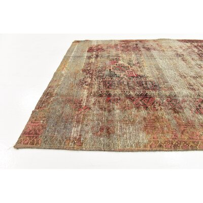 One-of-a-Kind Sela Traditional Vintage Persian Hand Woven Dyed Wool Beige Oriental Area Rug