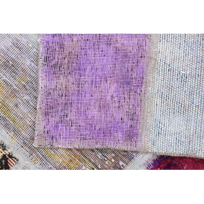 One-of-a-Kind Muhammad Vintage Persian Hand Woven Wool Purple/Blue Oriental Area Rug