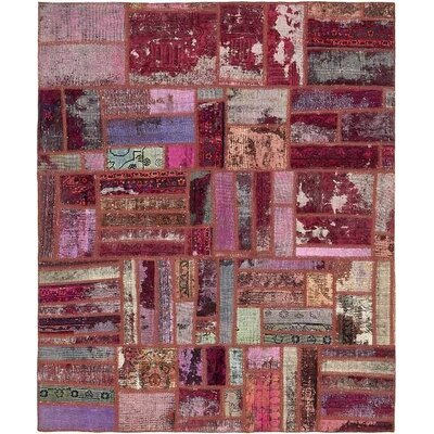 One-of-a-Kind Sela Vintage Persian Hand Knotted Wool Distressed Red/Pink Area Rug
