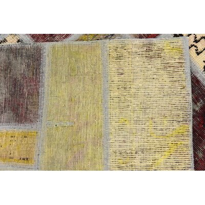 One-of-a-Kind Muhammad Vintage Persian Hand Woven Wool Red/Yellow Area Rug