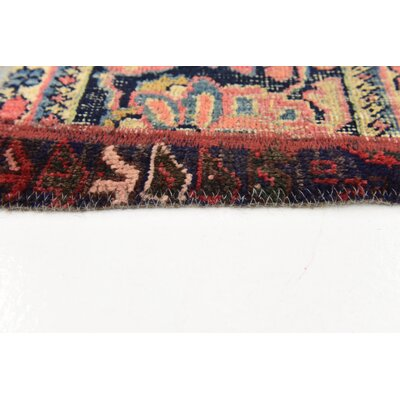 One-of-a-Kind Muhammad Vintage Persian Hand Woven Wool Light Brown/Purple Area Rug