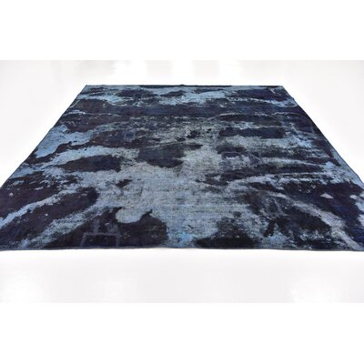 One-of-a-Kind Sela Vintage Persian Hand Woven Wool Rectangle Blue Area Rug
