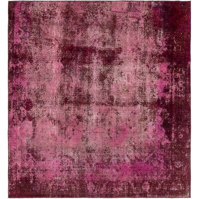One-of-a-Kind Sela Traditional Vintage Persian Hand Woven Wool Red/Pink Area Rug