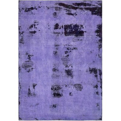 One-of-a-Kind Sela Vintage Persian Hand Woven 100% Wool Rectangle Violet Area Rug