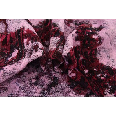 One-of-a-Kind Sela Vintage Persian Hand Woven 100% Dyed Wool Distressed Red/Purple Area Rug
