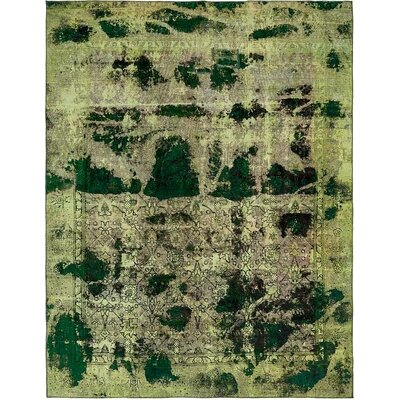 One-of-a-Kind Sela Vintage Persian Hand Woven Wool Light Green Area Rug