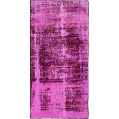 One-of-a-Kind Sela Traditional Vintage Persian Hand Woven Wool Distressed Violet Area Rug