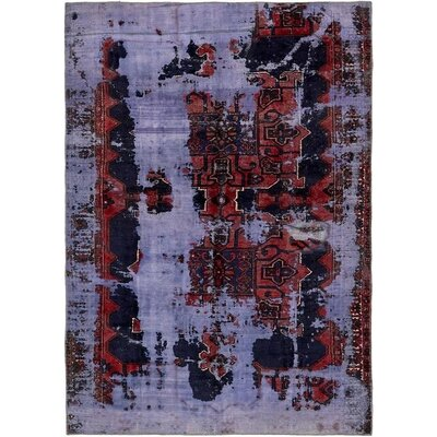 One-of-a-Kind Sela Traditional Vintage Persian Hand Woven Wool Blue Area Rug