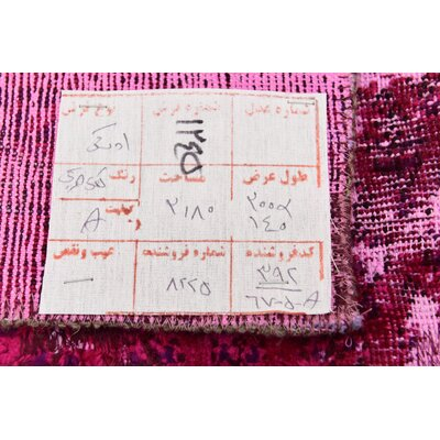 One-of-a-Kind Sela Traditional Vintage Persian Hand Woven Wool Distressed Red Area Rug with Cotton Backing