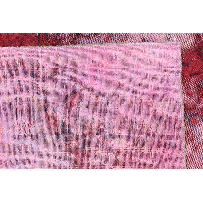 One-of-a-Kind Muhammad Vintage Persian Hand Woven Wool Rectangle Red Oriental Area Rug