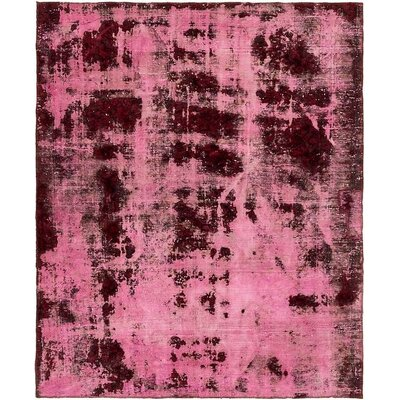 One-of-a-Kind Sela Traditional Vintage Persian Hand Knotted Wool Pink Area Rug