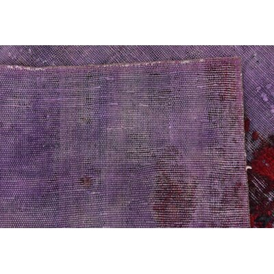 One-of-a-Kind Sela Vintage Persian Hand Woven Wool Purple Area Rug with Fringe