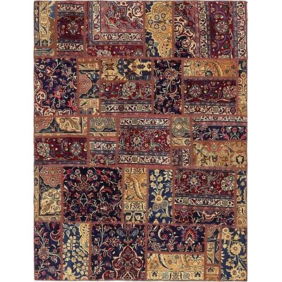 One-of-a-Kind Sela Vintage Persian Hand Woven Wool Brown/Blue Area Rug