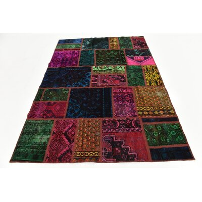 One-of-a-Kind Sela Traditional Vintage Persian Hand Woven Wool Green/Pink Area Rug