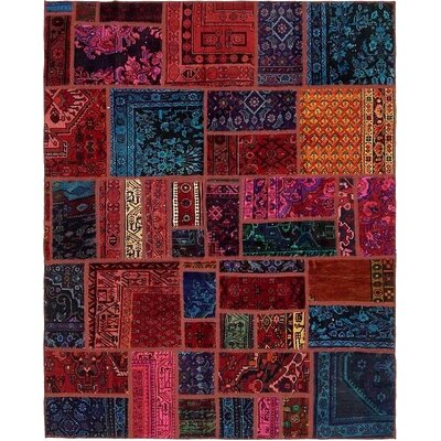 One-of-a-Kind Sela Traditional Vintage Persian Hand Woven Wool Blue/Red Area Rug
