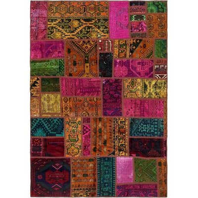 One-of-a-Kind Sela Vintage Persian Hand Woven 100% Wool Pink/Brown Area Rug