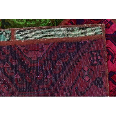 One-of-a-Kind Sela Vintage Persian Hand Woven Wool Red/Green Oriental Area Rug
