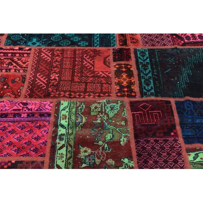 One-of-a-Kind Sela Vintage Persian Hand Woven 100% Wool Blue/Red Oriental Area Rug