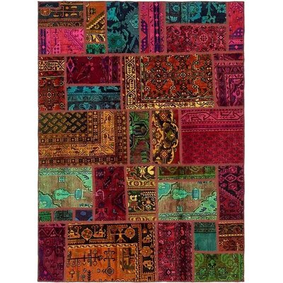 One-of-a-Kind Sela Traditional Vintage Persian Hand Woven Wool Red/Orange Area Rug