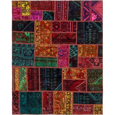 One-of-a-Kind Sela Traditional Vintage Persian Hand Woven 100% Wool Blue/Orange Area Rug
