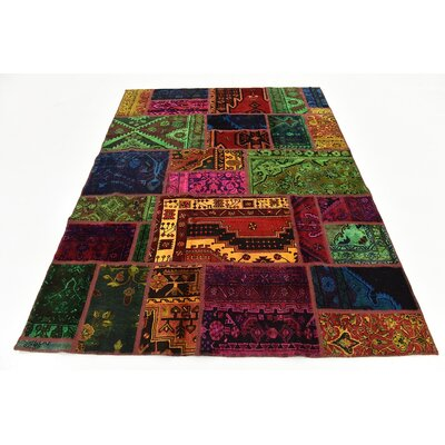 One-of-a-Kind Sela Vintage Persian Hand Woven Wool Rectangle Green/Orange Oriental Area Rug