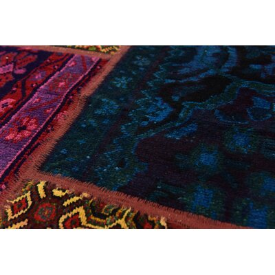 One-of-a-Kind Sela Traditional Vintage Persian Hand Woven Wool Blue/Pink Area Rug