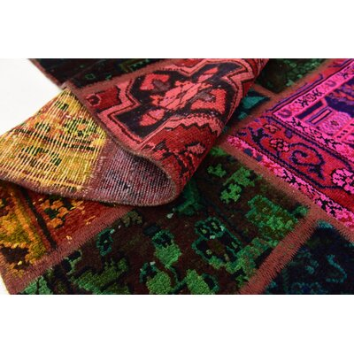 One-of-a-Kind Sela Traditional Vintage Persian Hand Woven Wool Pink/Green Area Rug