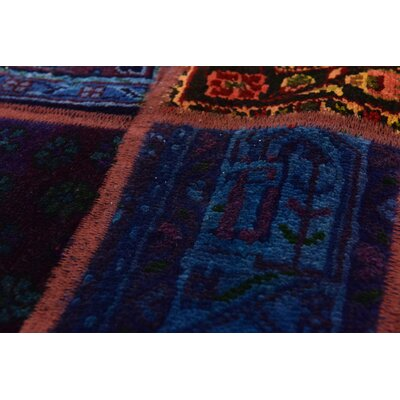 One-of-a-Kind Sela Traditional Vintage Persian Hand Woven Wool Blue/Orange Oriental Area Rug