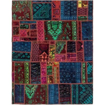 One-of-a-Kind Sela Vintage Persian Hand Woven Wool Rectangle Blue/Pink Area Rug