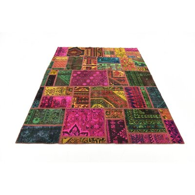 One-of-a-Kind Sela Vintage Hand Woven Wool Pink/Green Area Rug
