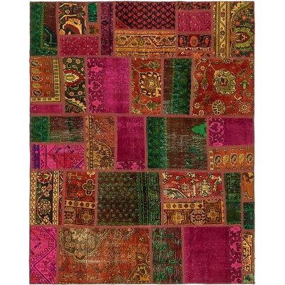 One-of-a-Kind Sela Traditional Vintage Persian Hand Woven Wool Orange/Pink Area Rug