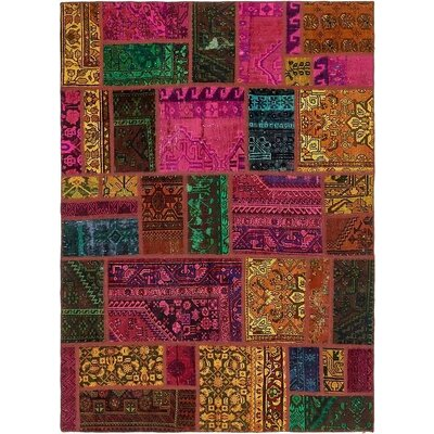 One-of-a-Kind Sela Traditional Vintage Persian Hand Woven Wool Yellow/Pink Area Rug