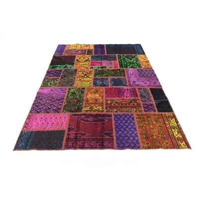 One-of-a-Kind Sela Vintage Persian Hand Woven Wool Purple/Orangle Area Rug