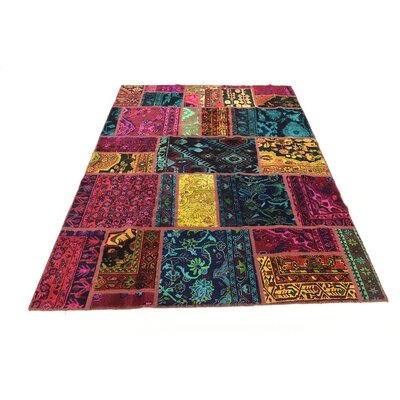 One-of-a-Kind Sela Vintage Persian Hand Woven Wool Blue/Brown Area Rug