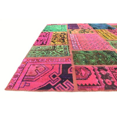 One-of-a-Kind Sela Vintage Persian Hand Woven Wool Pink/Green Area Rug