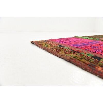 One-of-a-Kind Sela Vintage Persian Hand Woven 100% Wool Blue/Orange Oriental Area Rug