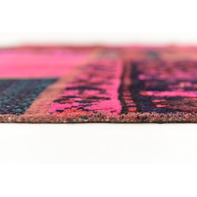 One-of-a-Kind Sela Vintage Persian Hand Woven Wool Pink/Blue Area Rug