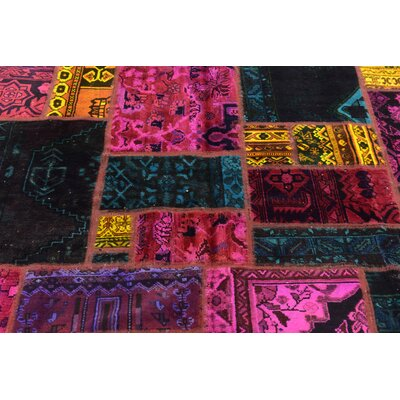 One-of-a-Kind Sela Vintage Persian Hand Woven Wool Yellow/Pink Area Rug