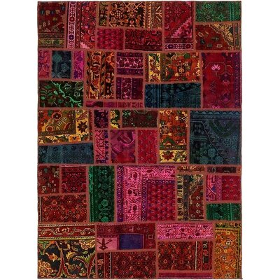 One-of-a-Kind Sela Vintage Persian Hand Woven Wool Red/Green Area Rug