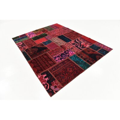 One-of-a-Kind Sela Traditional Vintage Persian Hand Woven Wool Red/Blue Area Rug