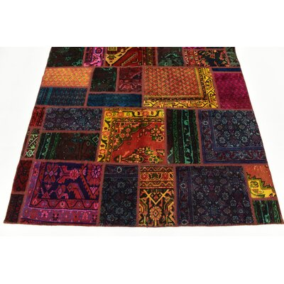 One-of-a-Kind Sela Vintage Persian Hand Woven Dyed Wool Rectangle Blue/Orange Oriental Area Rug