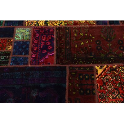 One-of-a-Kind Sela Vintage Persian Hand Woven Wool Blue/Red Area Rug