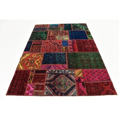 One-of-a-Kind Sela Vintage Persian Hand Woven Wool Rectangle Green/Red Area Rug