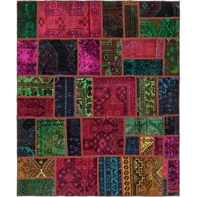 One-of-a-Kind Sela Traditional Vintage Persian Hand Woven Wool Green/Red Area Rug