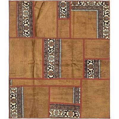 One-of-a-Kind Sela Vintage Persian Hand Woven Wool Rectangle Brown Area Rug