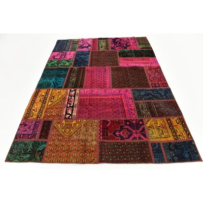 One-of-a-Kind Sela Traditional Vintage Persian Hand Woven Wool Pink/Brown Area Rug