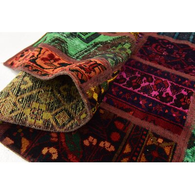 One-of-a-Kind Sela Traditional Vintage Persian Hand Woven Wool Red/Green Area Rug