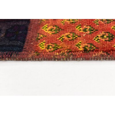 One-of-a-Kind Sela Traditional Vintage Persian Hand Woven Dyed Wool Rectangle Blue Area Rug